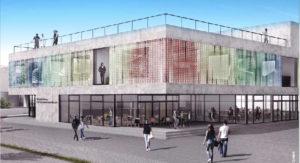 Entwurf der Fassade des digitalen Gründerzentrums Hof