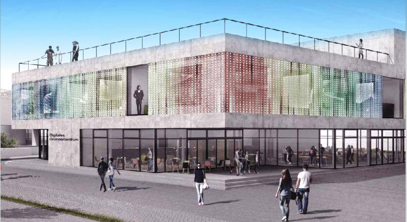 Fassadenentwurf Digitales Gründerzentrum