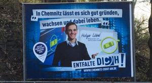 BIld von Werbeplakat Chemnitz