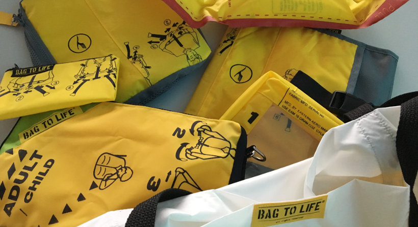 Taschen aus Rettungswesten - Upcycling mit BAG TO LIFE