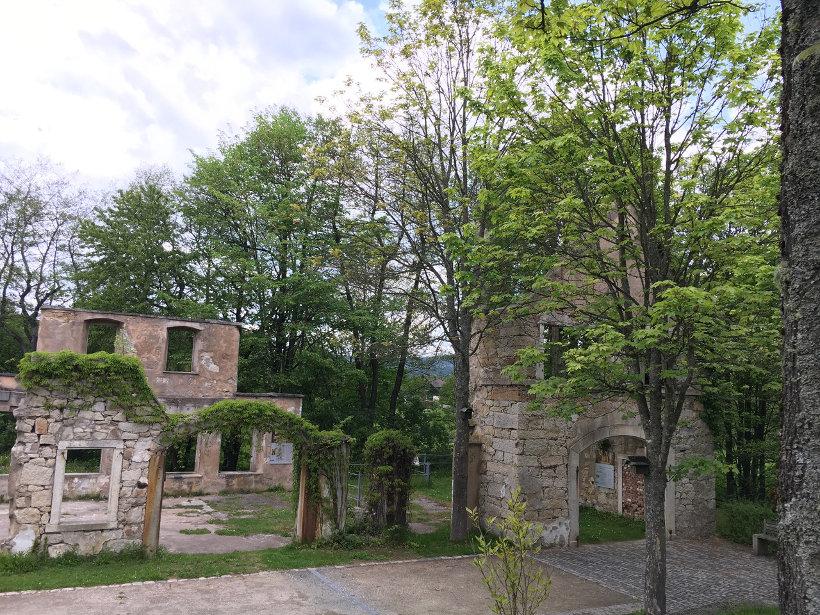 Reste der Granitschleiferei am WeißenstädterSee
