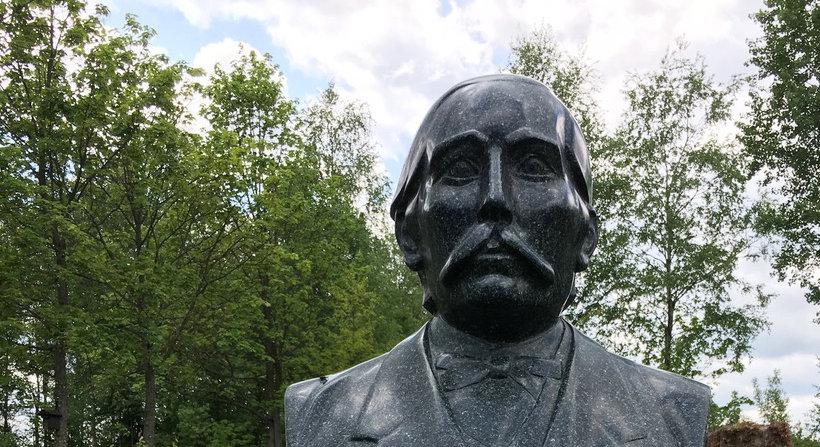 Kopf der Statue von Erhard Ackermann