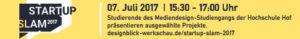 Banner des Startup Slam Münchberg