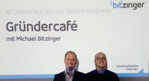 Michael Bitzinger und Niko Emran beim Gründercafé