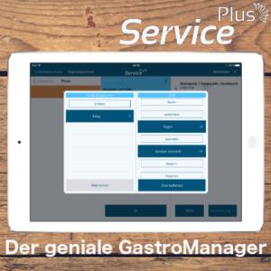 Tablet mit Screen von GastroManager