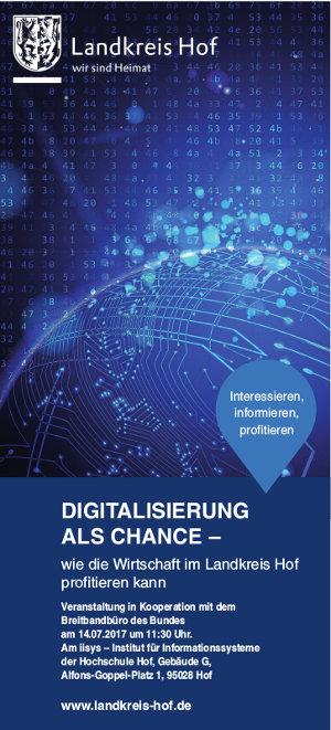 Digitalisierung als Chance im Landkreis Hof