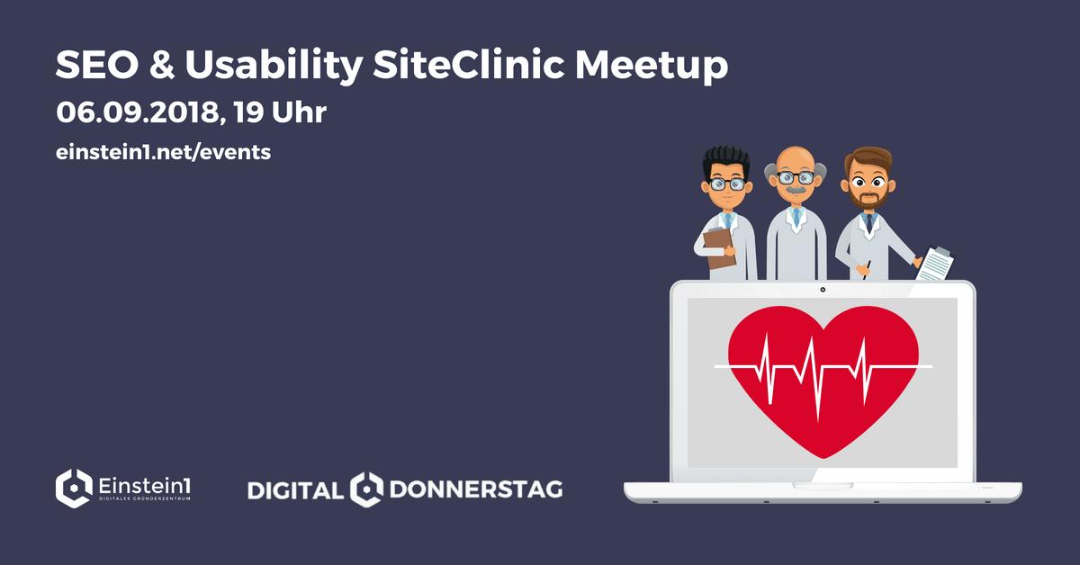 SEO & Usability SiteClinic Meetup Einstein1 Hof
