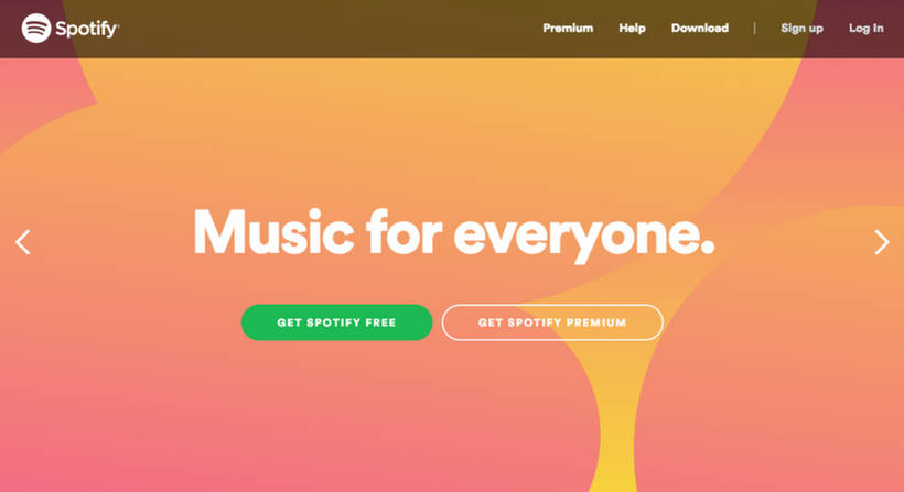 Spotify Landing Page Value Proposition