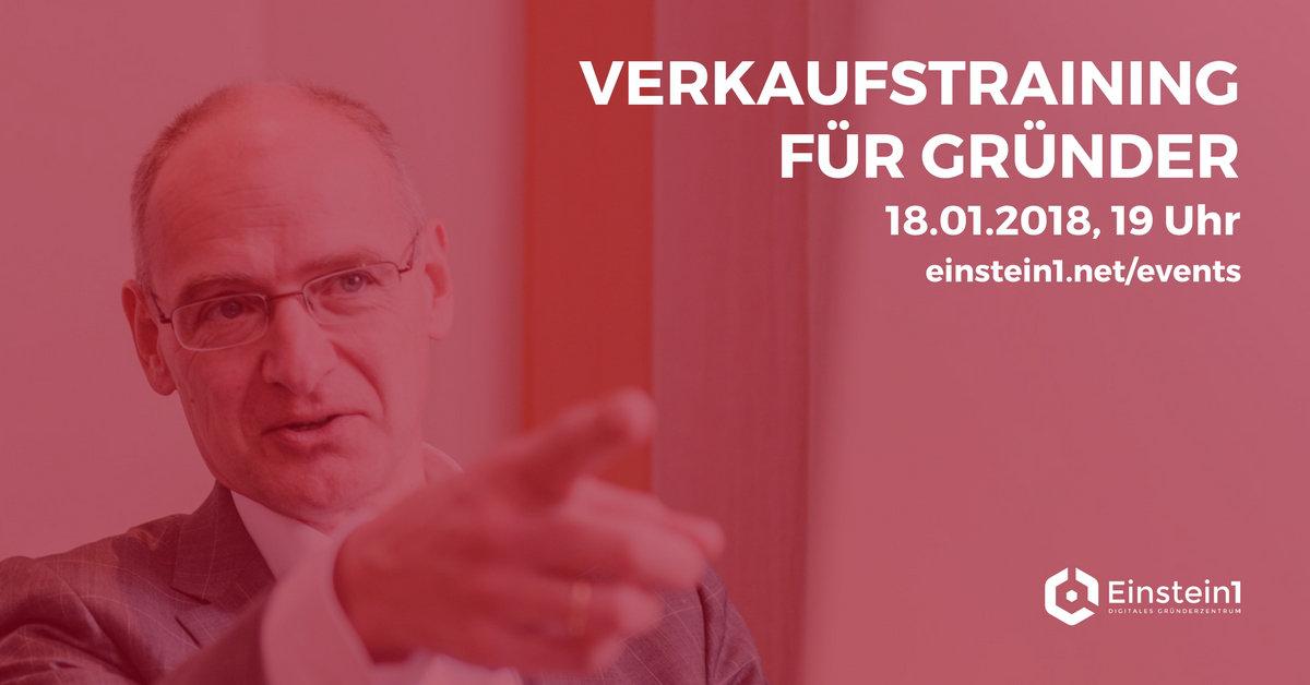 Verkaufstraining für Gründer mit Hermann Hohenberger