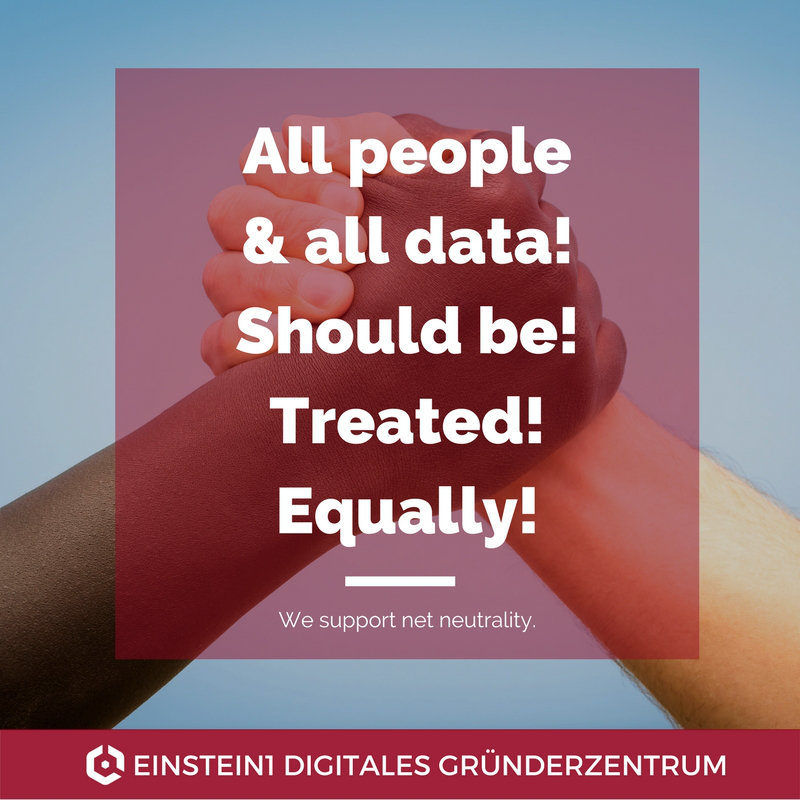 All people & all data! Should be treated equally! We support net neutrality!