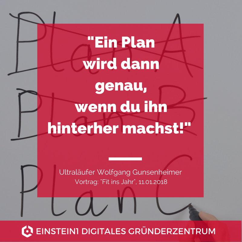 Ein Plan wird dann genau, wenn du ihn hinterher machst!