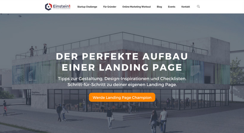 Landing Page Aufbau