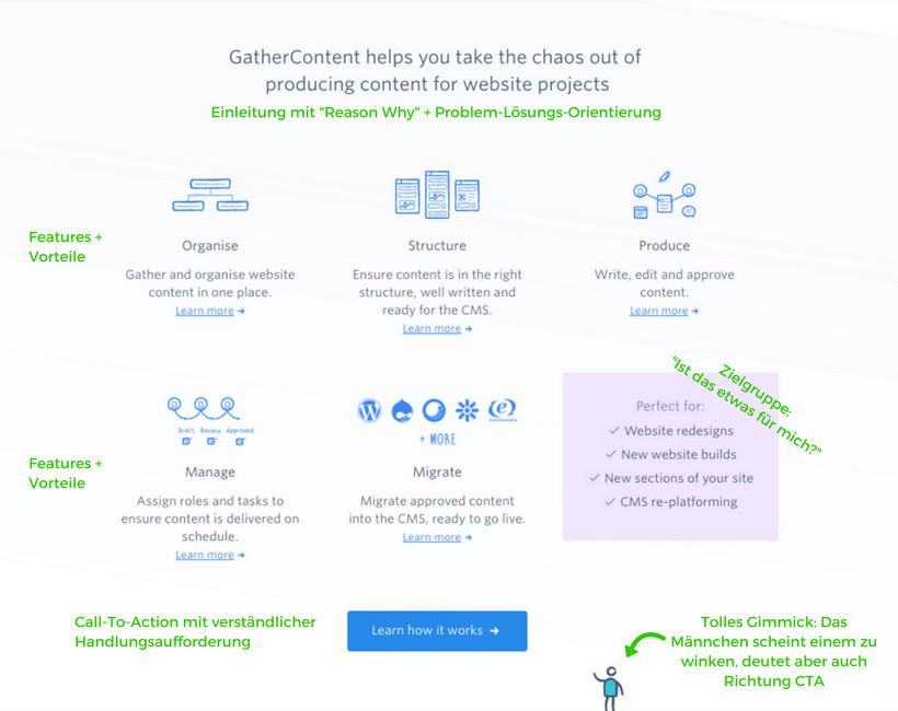 GatherContent Landing Page