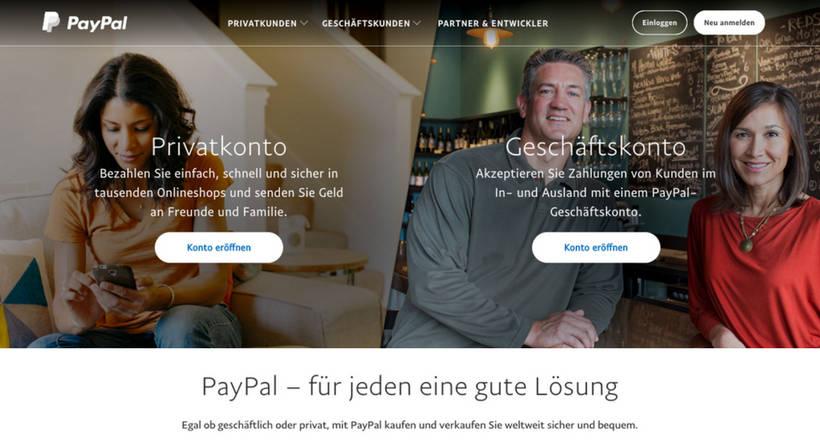 PayPal Landing Page
