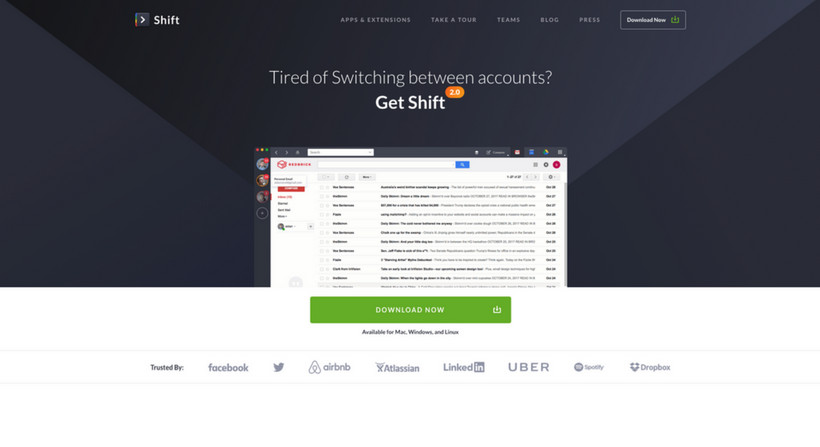 Shift Landing Page