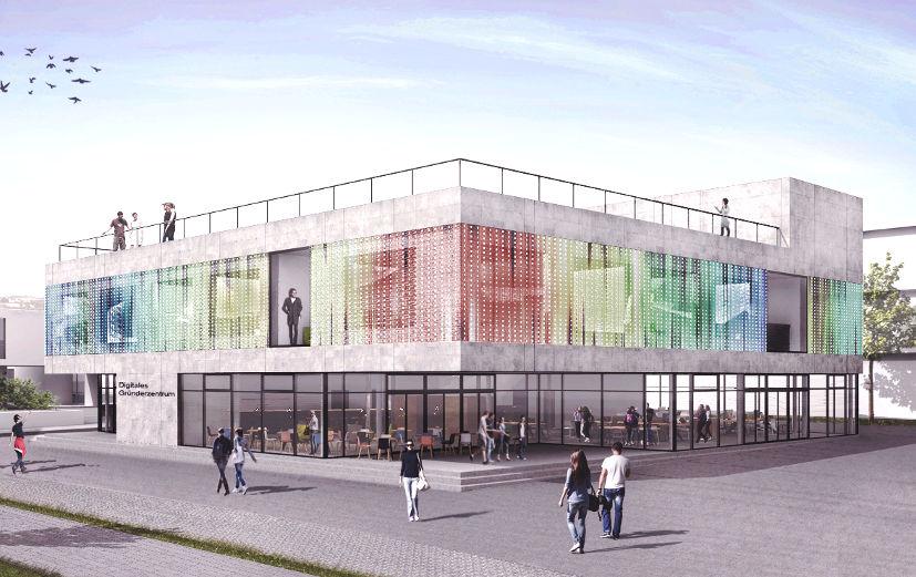Neubau des Digitalen Gründerzentrums Einstein1 in Hof