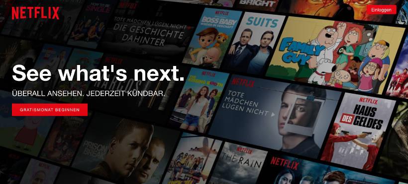 CTA Beispiel Netflix