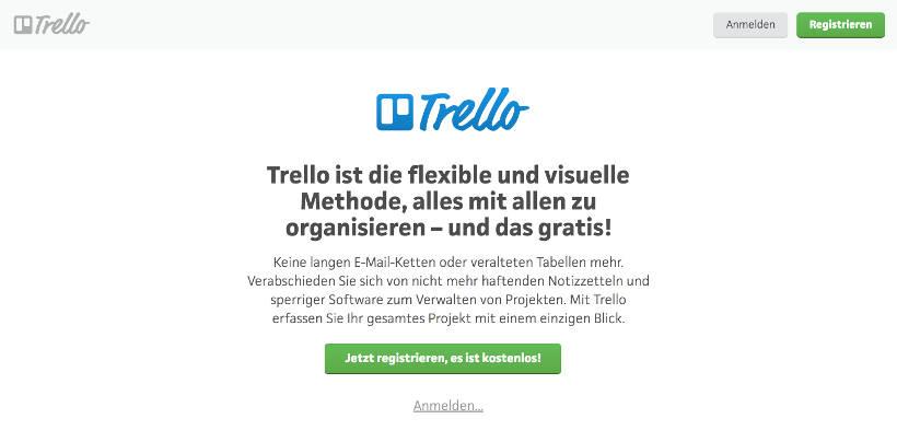 Call-To-Action Button Beispiel Trello