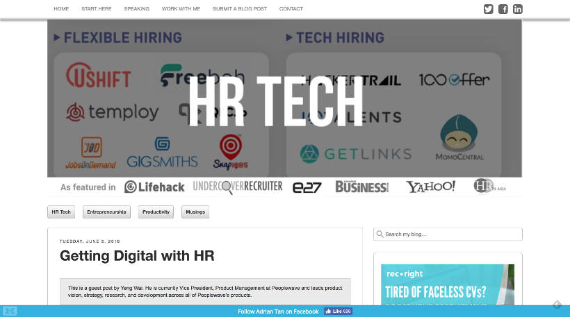 Startup Blogs - Adrian Tan Screenshot
