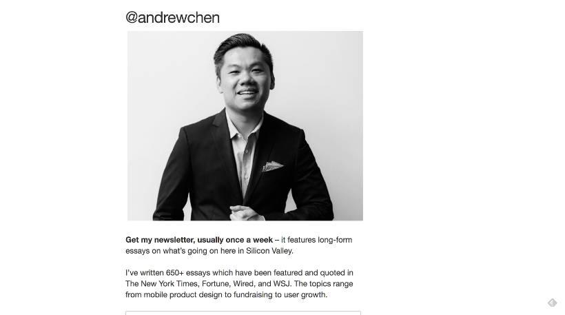 Startup Blogs - Andrew Chen Screenshot