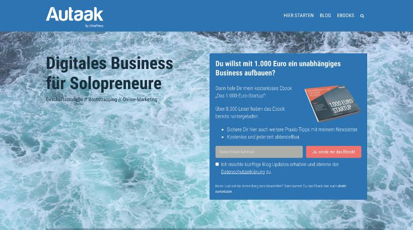 Startup Blogs - AUTAAK Screenshot