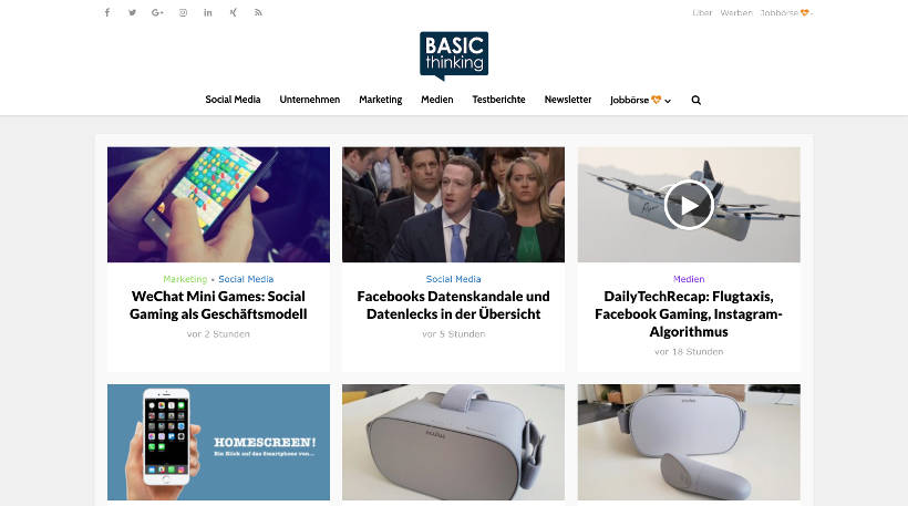Startup Blogs - Basic thinking Screenshot