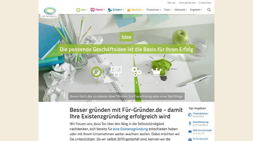 Startup Blogs - Für-Gründer.de Screenshot