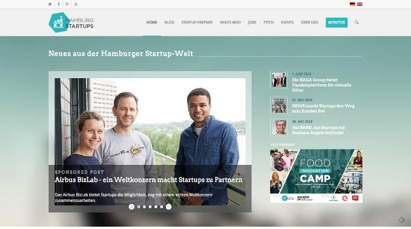 Startup Blogs - Hamburg Startups Screenshot