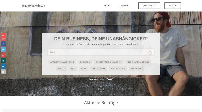 Startup Blogs - LetsSeeWhatWorks.com Screenshot