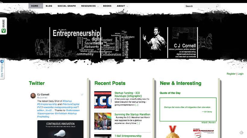 Startup Blogs - Metapreneurship Screenshot