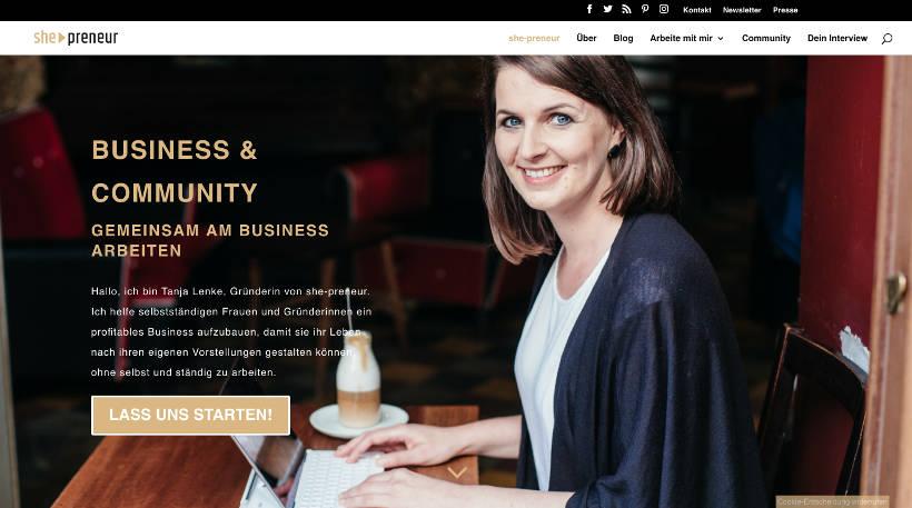 Startup Blogs - she-preneur Screenshot