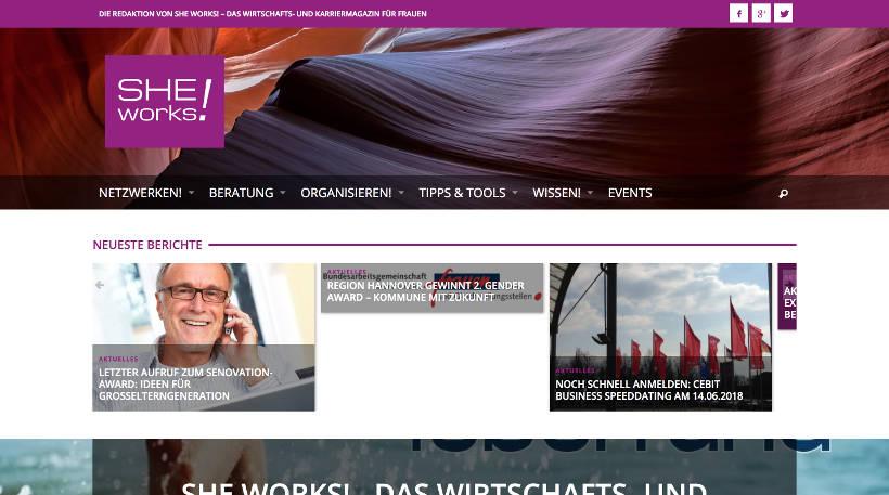 Startup Blogs - SHE works! Screenshot