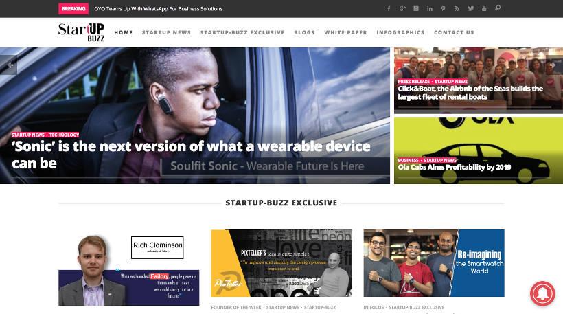 Startup Blogs - Startup Buzz Screenshot