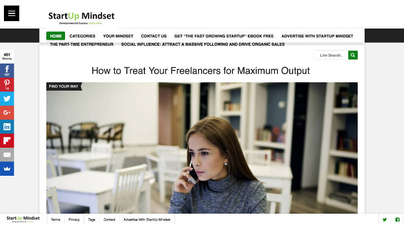 Startup Blogs - StartUp Mindest Screenshot