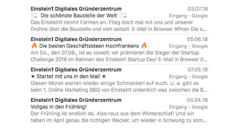 E-Mail Marketing Betreffzeile und Snippet-Text