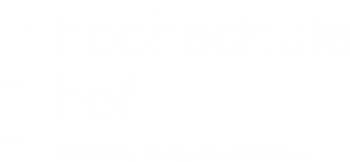Hochschule Hof Logo weiß