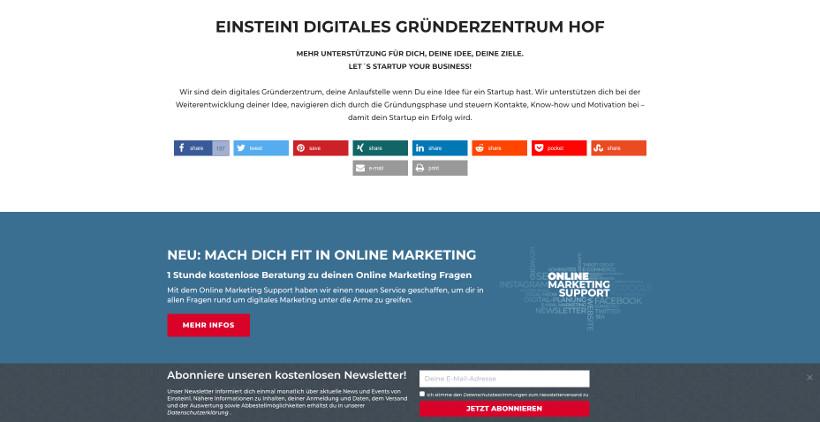 Newsletter Bottom Bar Notification Einstein1