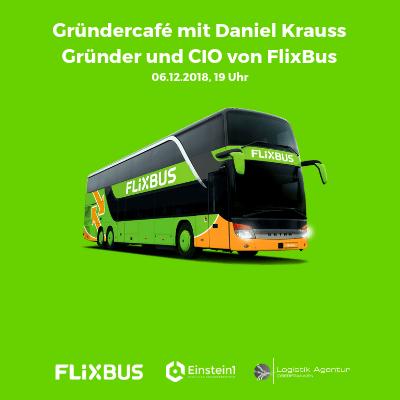 Teaser Gründercafé mit Daniel Krauss, Gründer und CIO von Flixbus