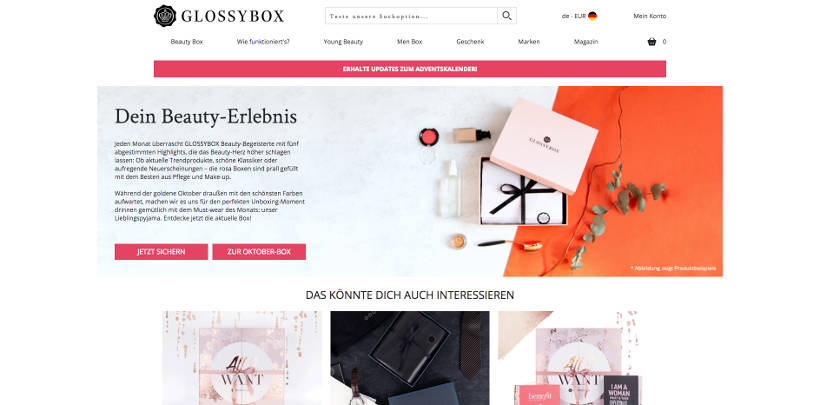 Glossybox Screenshot