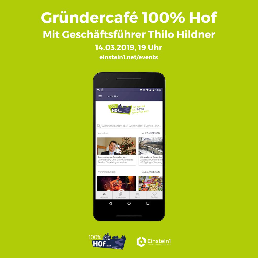 Teaser Gründercafé 100% Hof