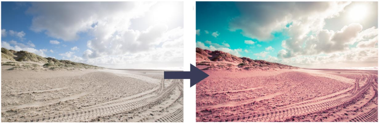 Instagram Bilder bearbeiten Orange Teal Effekt
