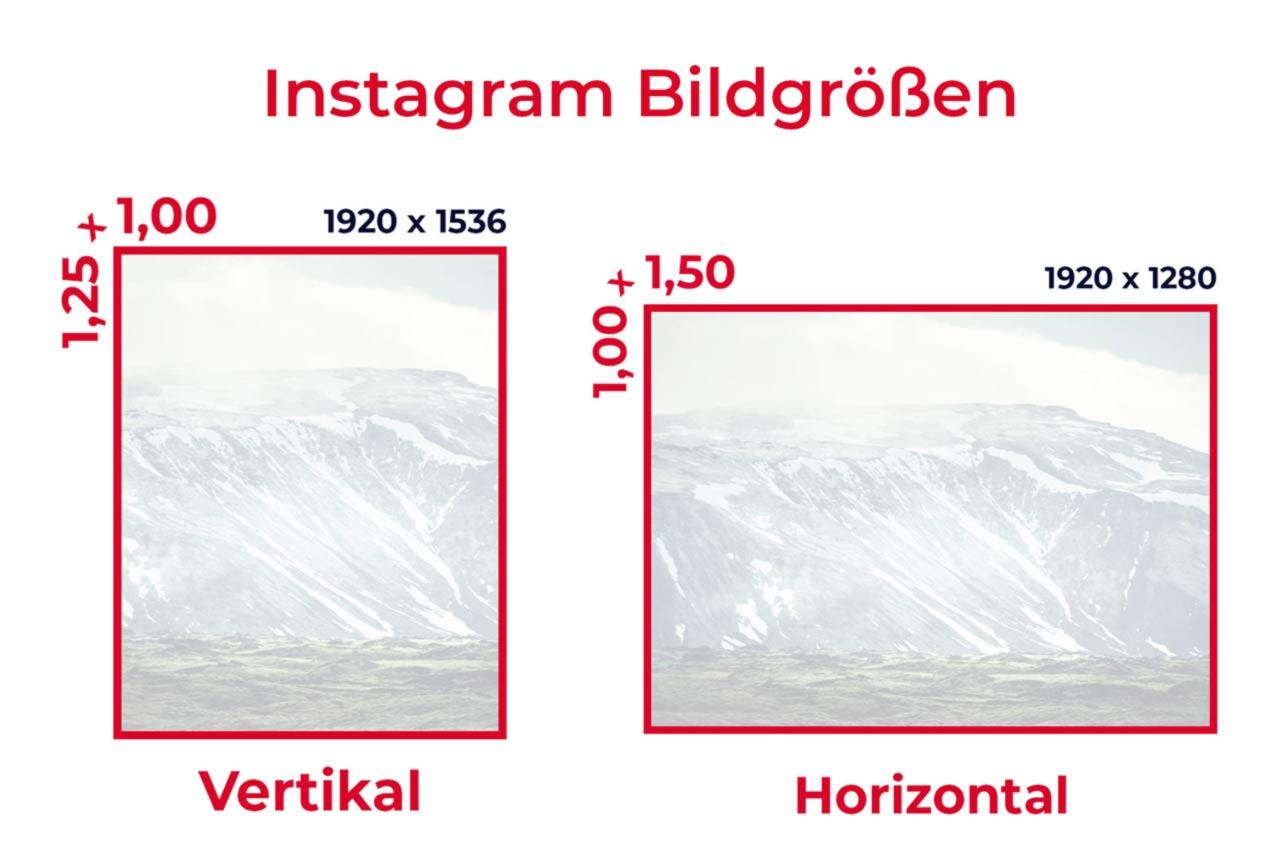 Instagram Bildgroessen