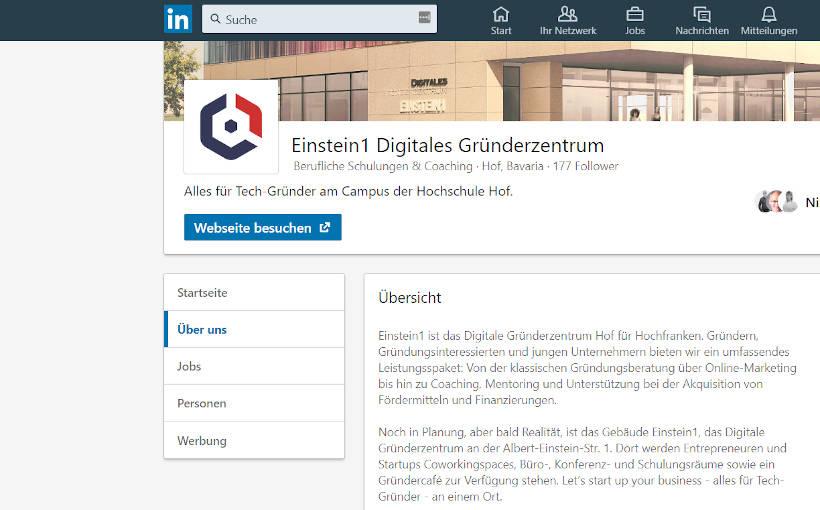 Einstein1 LinkedIn Screenshot
