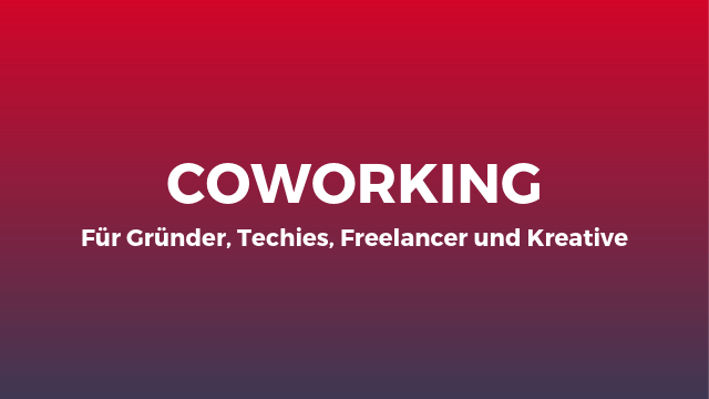 Coworking Teaser Website