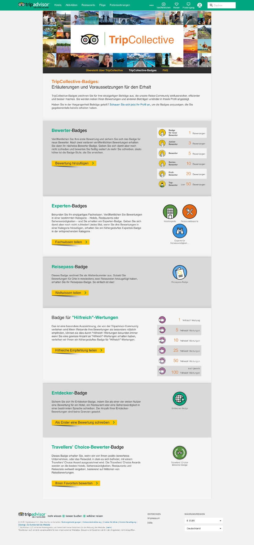 TripCollective Gamification Beispiel