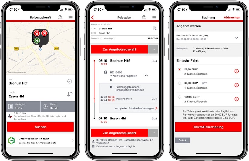 User Experience Design DB Navigator