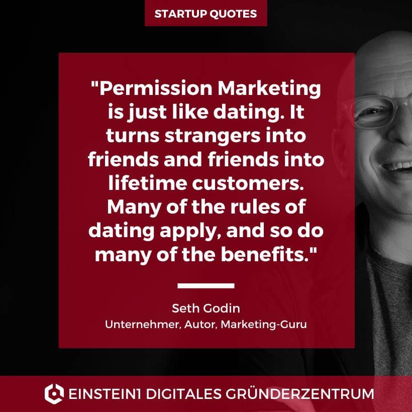 Permission Marketing. Zitat von Seth Godin