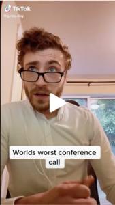 Screenshot TikTok Videokonferenz Fail