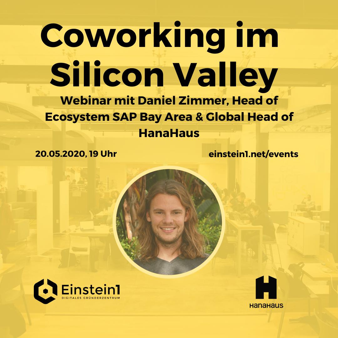 Webinar mit Daniel Zimmer, Silicon Valley, Coworking & Start-Ups