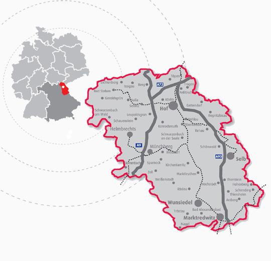 Karte Hochfranken